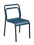 Chaise de jardin en aluminium Proloisirs Eos bleu nuit