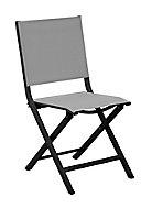Chaise de jardin en aluminium Proloisirs Thema graphite et perle