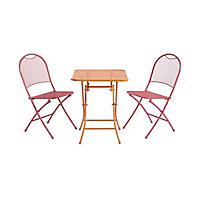 Chaise de jardin en métal Chiva rose pliante