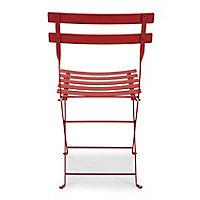 Chaise de jardin en métal Fermob Bistro piment