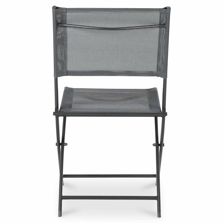 Chaise de jardin en métal Saba gris anthracite pliante