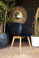 Chaise de jardin en résine Amalia noire (lot de 2)