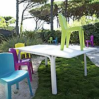 Chaise de jardin en résine Europa jaune soleil