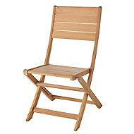 Chaise de jardin en teck (lot de 2)