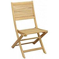 Chaise de jardin en teck Roscana pliante