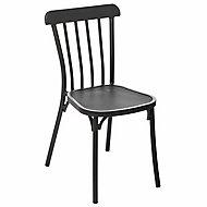 Chaise de jardin Hespéride Ellipsa graphite
