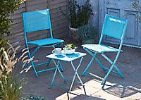 Chaise de jardin Saba bleu clair