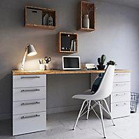 Chaise GoodHome Marula métal blanc