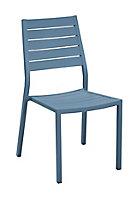 Chaise Sevilla bleu cobalt
