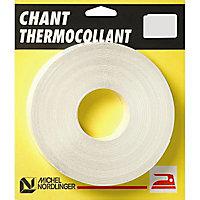 Chant mélaminé thermocollant Melafix P099 blanc mat 23 mm x L.5 m