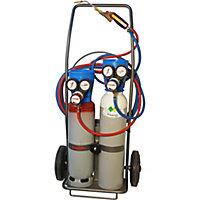 Chariot gaz oxygène acétylene complet Castolin 1m3