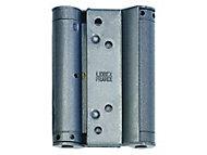 Charnière double action acier époxy gris Afbat 100 mm