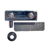Charnière pour porte en verre acier chromé Diall 130 mm