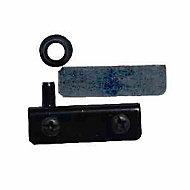 Charnière pour porte en verre acier noir Diall 130 mm