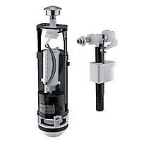 Chasse d'eau et robinet flotteur latéral Diall