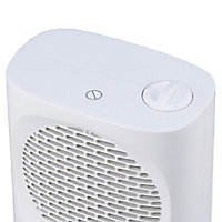 Chauffage d'appoint soufflant oscillant GoodHome Colenso blanc 2000W