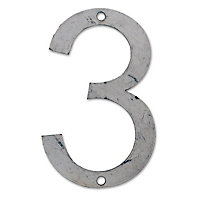 "Chiffre ""3"" à peindre typologie Arial H.12 cm"