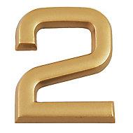 """Chiffre dorée """"2"""" en relief"""