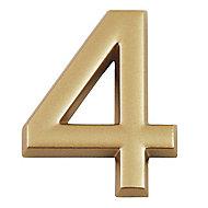 """Chiffre dorée """"4"""" en relief"""