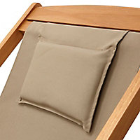 Chilienne bois et toile amovible Blooma Louga taupe