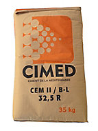 Ciment gris multi-usages Cimed CEMII/B-LL32.5R 35 Kg