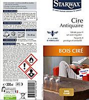 Cire antiquaire aérosol bois ciré clair Starwax 300ml
