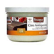 Cire antiquaire pâte bois ciré chêne clair Starwax 375ml