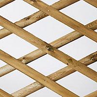 Clôture extérieure bois croisillons Blooma Ibar vert 250xh.80 cm