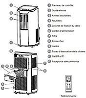 Climatiseur mobile Optiméo OPC-C02-121 3500 W