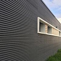 Clin pour bardage composite Greenwall Claire Voie gris - L.2,6 m