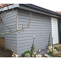 Clin pour bardage composite Greenwall M by Green Outside gris - L.2,6 m