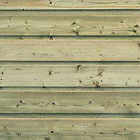 Clin pour bardage sapin vert L.2,4 m