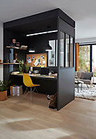 Cloison amovible Alara style industriel noir 112 x h.230 cm