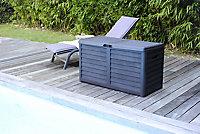 Coffre de jardin Baya anthracite 420L