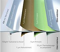 Coffre de rangement métal gris Biohort 460 L
