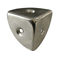 Coin de caisse 3 faces Diall en acier nickelé L. 30 mm, 4 pièces