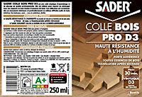 Colle Bois Sader PRO D3 - Bois Humide Translucide 250 g