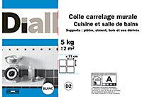 Colle carrelage murale cuisine et salle de bain Diall 5 kg