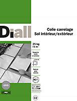 Colle carrelage sol intérieur/extérieur gris 25 kg