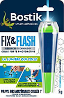 Colle de Réparation Bostik Fix & Flash (Colle Forte Photoactive) Applicateur et Tube 5g