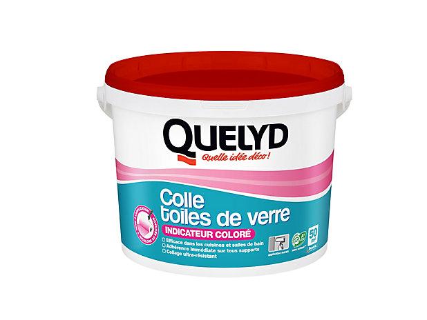 Colle Papier Peint Quelyd Pour Toiles De Verre Pate Avec Indicateur Colore 10 Kg Castorama