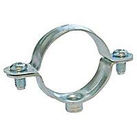 Collier de fixation simple pour tube Ø40 mm, lot de 2