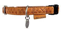 Collier réglable Mc Leather 25mm jaune