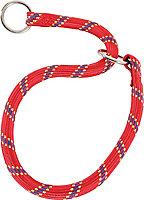 Collier étrangleur nylon corde 65cm rouge