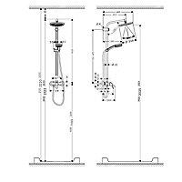 Colonne de douche mécanique HansGrohe Showerpipe Verso 220