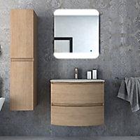 Colonne de salle de bains Cooke & Lewis aspect bois Vague 30 cm