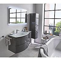 Colonne de salle de bains Cooke & Lewis gris anthracite Vague 30 cm