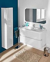 Colonne de salle de bains Cooke & Lewis Voluto blanc 1 porte 35 cm