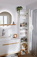 Colonne de salle de bains fermée GoodHome Adriska L. 40 x H. 190 x P. 36 cm