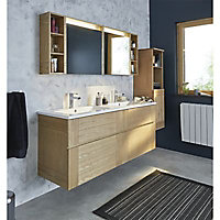 Colonne de salle de bains frêne Essential II